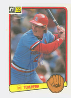 Tom Herr AUTOGRAPH 1983 Donruss #217 Cardinals 