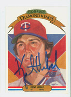 Kent Hrbek AUTOGRAPH 1983 Donruss Diamond King #19 Twins 