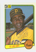 Lee Lacy AUTOGRAPH 1983 Donruss #276 Pirates 