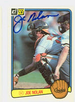 Joe Nolan AUTOGRAPH 1983 Donruss #79 Orioles 