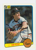 Dan Petry AUTOGRAPH 1983 Donruss #359 Tigers 