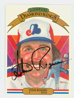 Steve Rogers AUTOGRAPH 1983 Donruss Diamond King #18 Expos 