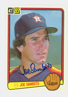 Joe Sambito AUTOGRAPH 1983 Donruss #244 Astros 