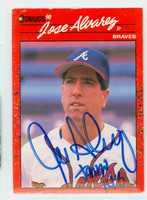 Jose Alvarez AUTOGRAPH 1990 Donruss Braves 
