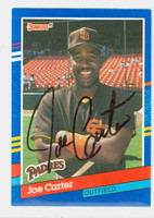 Joe Carter AUTOGRAPH 1991 Donruss Padres 