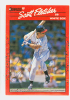 Scott Fletcher AUTOGRAPH 1990 Donruss White Sox 