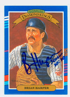 Brian Harper AUTOGRAPH 1991 Donruss Diamond King Twins 