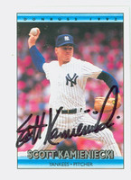 Scott Kamieniecki AUTOGRAPH 1992 Donruss Yankees 