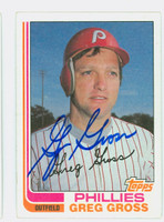 Greg Gross AUTOGRAPH 1982 Topps #53 Phillies 