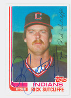 Rick Sutcliffe AUTOGRAPH 1982 Topps Traded #116T Indians 