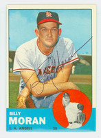 Billy Moran AUTOGRAPH 1963 Topps #57 Angels CARD IS SHARP EX/MT