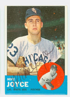 Mike Joyce AUTOGRAPH 1963 Topps #66 White Sox CARD IS VG/EX; O/C 90/10 TB; AUTO CLEAN