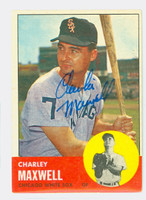 Charley Maxwell AUTOGRAPH 1963 Topps #86 White Sox CARD IS VG/EX; AUTO CLEAN  [SKU:MaxwC721_T63BBC]