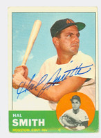 Hal W. Smith AUTOGRAPH 1963 Topps #153 Colts CARD IS G/VG, CRN WEAR; AUTO CLEAN