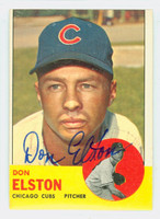 Don Elston AUTOGRAPH d.95 1963 Topps #515 Cubs TOUGH SERIES CARD IS VG; OC 100/0 TB; AUTO CLEAN