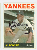 Al Downing AUTOGRAPH 1964 Topps #86 Yankees CARD IS VG/EX; AUTO CLEAN  [SKU:DownA1649_T64BBc]