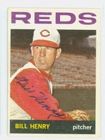Bill Henry AUTOGRAPH d.14 1964 Topps #49 Reds CARD IS VG/EX; AUTO CLEAN