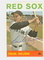 Frank Malzone AUTOGRAPH d.15 1964 Topps #60 Red Sox CARD IS VG; AUTO CLEAN