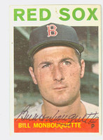 Bill Monbouquette AUTOGRAPH d.15 1964 Topps #25 Red Sox CARD IS VG; WAX, AUTO CLEAN
