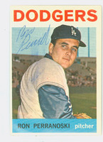 Ron Perranoski AUTOGRAPH 1964 Topps #30 Dodgers CARD IS CLEAN EX