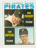 Bob Priddy- Tom Butters DUAL SIGNED 1964 Topps Pirates Rookies #74 Pirates CARD IS VG; AUTOS CLEAN
