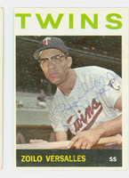 Zoilo Versalles AUTOGRAPH d.95 1964 Topps #15 Twins CARD IS VG/EX; AUTO CLEAN