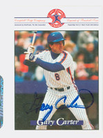 Gary Carter AUTOGRAPH d.12 Misc Collector Sets Mets 