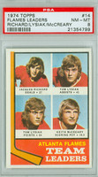 1974-75 Topps Hockey Flames Leaders - Tom Lysiak PSA 8 Near Mint to Mint
