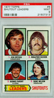 1977-78 Topps Hockey Shutout Leaders - Dryden/Parent PSA 9 Mint
