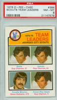 1976-77 OPC NHL Scouts Leaders - Guy Charron PSA 8 Near Mint to Mint