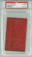 1902-03 Harvard Crimson Athletic Association Membership Ticket SCARCE PSA/DNA Authentic
