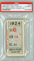 1924 Princeton Tigers Ticket Stub vs Navy Midshipmen  - October 18, 1924 PSA/DNA Authentic