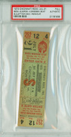 1973 Cincinnati Reds Full Ticket vs Monteal Expos Don Gullett Win #40 Dan Driessen 2B #7  - July 21, 1973 PSA/DNA Authentic