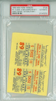 1963 New York Yankees Ticket Stub vs Washington Senators Roger Maris HR #211 - September 4, 1963 PSA/DNA Authentic