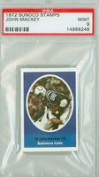 1972 Sunoco Football Stamps 88 John Mackey Baltimore Colts PSA 9 Mint