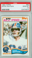 1982 Topps Football 90 Steve Watson Denver Broncos PSA 10 Gem Mint