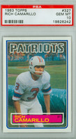 1983 Topps Football 327 Rich Camarillo New England Patriots PSA 10 Gem Mint