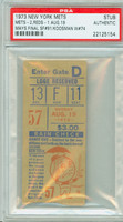 1973 New York Mets Ticket Stub vs Cincinnati Reds Jerry Koosman Win #74 - August 19, 1973 PSA/DNA Authentic