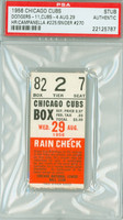1956 Chicago Cubs Ticket Stub vs Brooklyn Dodgers Duke Snider HR #270 Roy Campanella HR #225  - August 29, 1956 PSA/DNA Authentic