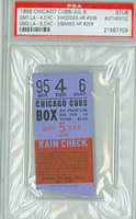 1959 Chicago Cubs Ticket Stub vs Los Angeles Dodgers Ernie Banks HR #206 Gil Hodges HR #335  - July 5, 1959 PSA/DNA Authentic