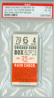1959 Chicago Cubs Ticket Stub vs Los Angeles Dodgers Ernie Banks Season HR #45 (FINAL) - September 25, 1959 Very Good to Excellent