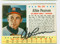 Albie Pearson AUTOGRAPH 1963 Post #29 Angels CARD IS VG, AUTO CLEAN