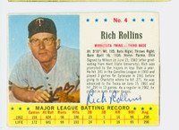 Rich Rollins AUTOGRAPH 1963 Jello #4 Twins CARD IS F/G; CREASE, CUT SHORT