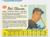 Bob Skinner AUTOGRAPH 1962 Post #174 O-PEE-CHEE Pirates CARD IS CLEAN EX