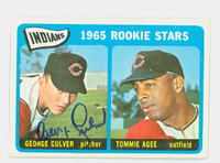George Culver AUTOGRAPH 1965 Topps Indians Rookies CARD IS VG; AUTO CLEAN