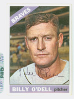 Billy O' Dell AUTOGRAPH d.18 1966 Topps #237 Braves CARD IS VG/EX; AUTO CLEAN  [SKU:ODelB1849_T66BBk]