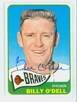 Billy O' Dell AUTOGRAPH d.18 1965 Topps Braves CARD IS VG/EX; AUTO CLEAN  [SKU:ODelB1849_T65BBk]
