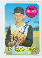 Luke Walker AUTOGRAPH 1969 Topps #36 Pirates 