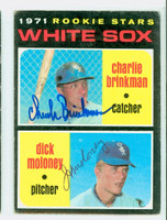 Brinkman-Moloney DUAL SIGNED 1971 Topps #13 White Sox Rookies CARD IS VG; AUTOS CLEAN