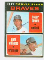 Oscar Brown AUTOGRAPH 1971 Topps #52 Braves Rookies CARD IS CLEAN EX